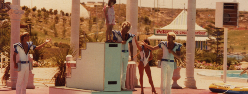 Atlantis dolphins in the 1980s