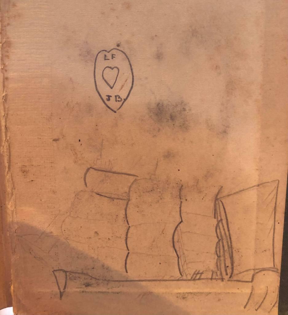 Laurie Flanders Western Australian Reader, published 1945. Love dedication on end page reads FF [heart] JB.